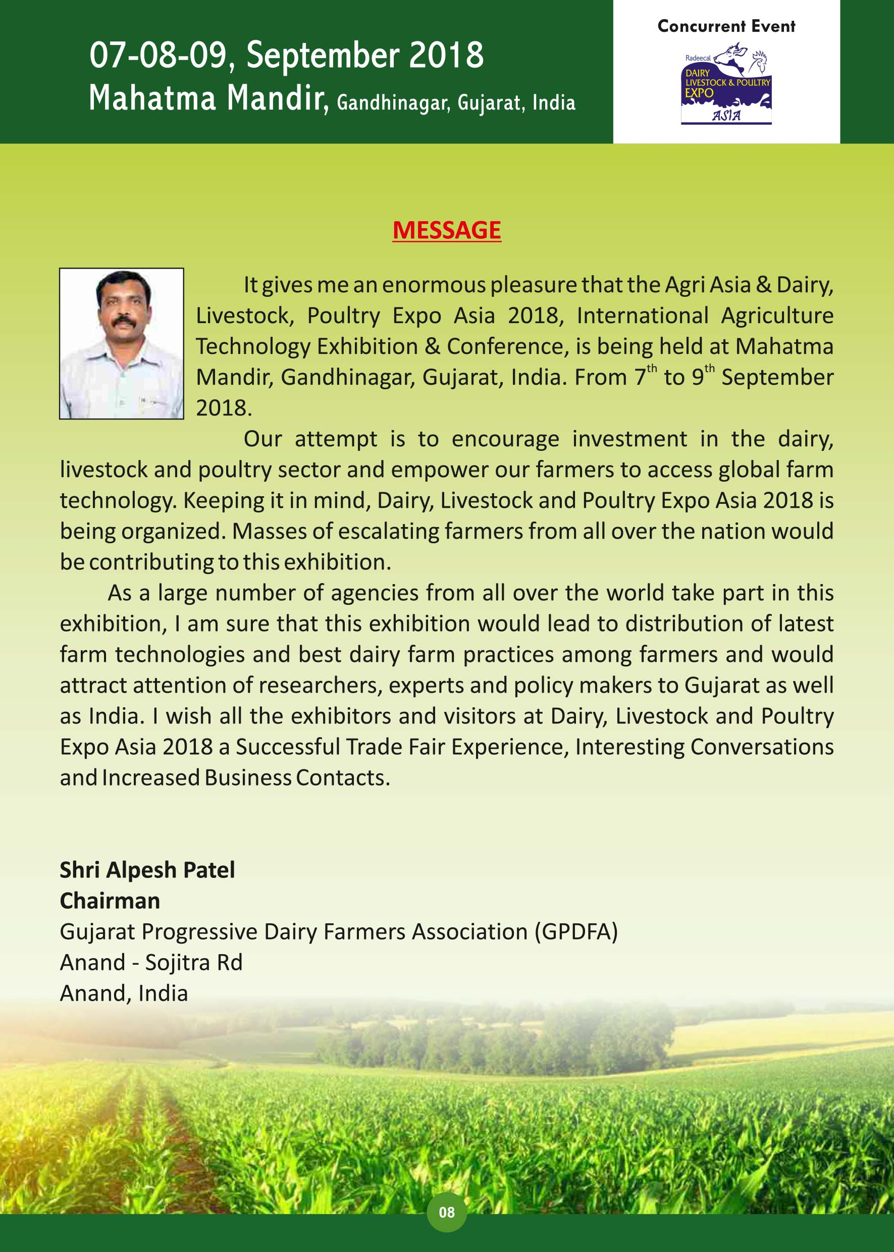 Agri Asia - Agriculture Technology Exhibition & Conference in India 2019
